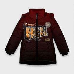 Куртка зимняя для девочки Welcome To Hell цвета 3D-черный — фото 1