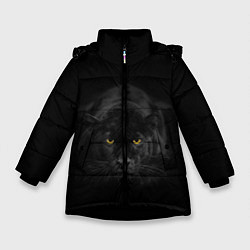 Куртка зимняя для девочки Пантера цвета 3D-черный — фото 1