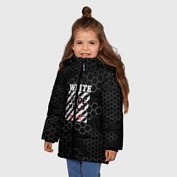 Детская зимняя куртка для девочки с принтом Juice WRLD, цвет: 3D-черный, артикул: 10213869106065 — фото 2