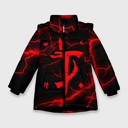 Куртка зимняя для девочки DOOM ETERNAL цвета 3D-черный — фото 1