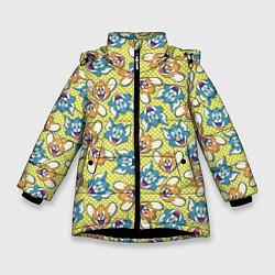 Куртка зимняя для девочки Jerry: Pattern цвета 3D-черный — фото 1