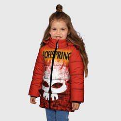 Куртка зимняя для девочки The Offspring цвета 3D-черный — фото 2