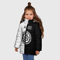 Куртка зимняя для девочки HIM цвета 3D-черный — фото 2