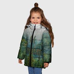 Куртка зимняя для девочки Лес мой храм цвета 3D-черный — фото 2