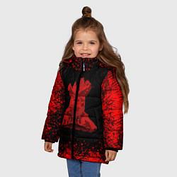 Куртка зимняя для девочки UNCHARTED цвета 3D-черный — фото 2