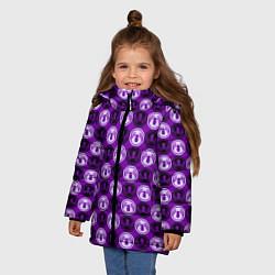 Куртка зимняя для девочки Веном цвета 3D-черный — фото 2