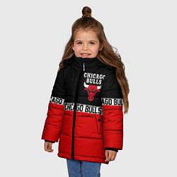Куртка зимняя для девочки CHICAGO BULLS цвета 3D-черный — фото 2