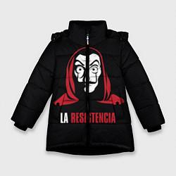 Куртка зимняя для девочки VALORANT цвета 3D-черный — фото 1