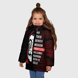 Куртка зимняя для девочки La Casa de Papel Z цвета 3D-черный — фото 2