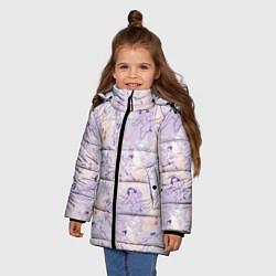Куртка зимняя для девочки Fa Ping Pattern цвета 3D-черный — фото 2