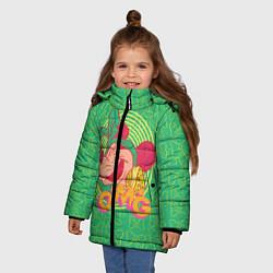 Детская зимняя куртка для девочки с принтом Minnie Mouse OMG, цвет: 3D-черный, артикул: 10250079106065 — фото 2