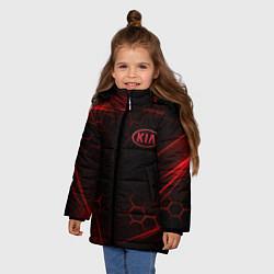 Куртка зимняя для девочки KIA цвета 3D-черный — фото 2