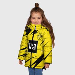 Куртка зимняя для девочки HAALAND Borussia Dortmund цвета 3D-черный — фото 2