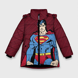 Куртка зимняя для девочки I am your Superman - фото 1