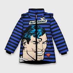 Куртка зимняя для девочки Superman! цвета 3D-черный — фото 1
