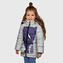 Куртка зимняя для девочки Синдзи Икари цвета 3D-черный — фото 2