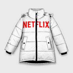 Куртка зимняя для девочки NETFLIX цвета 3D-черный — фото 1