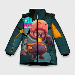 Куртка зимняя для девочки Fall Guys Gordon Freeman цвета 3D-черный — фото 1