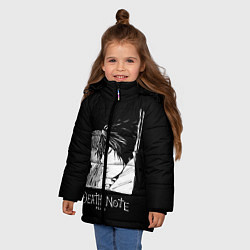 Куртка зимняя для девочки Ягами и L цвета 3D-черный — фото 2