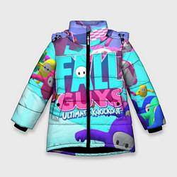 Куртка зимняя для девочки Fall Guys цвета 3D-черный — фото 1