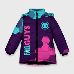 Куртка зимняя для девочки FALL GUYS ФОЛ ГАЙС цвета 3D-черный — фото 1