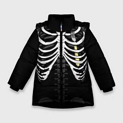 Куртка зимняя для девочки Вилка в груди цвета 3D-черный — фото 1