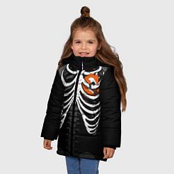 Куртка зимняя для девочки Лиса в груди цвета 3D-черный — фото 2