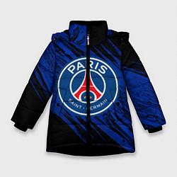 Куртка зимняя для девочки ПСЖ цвета 3D-черный — фото 1