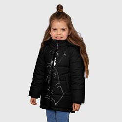 Куртка зимняя для девочки Кирито цвета 3D-черный — фото 2