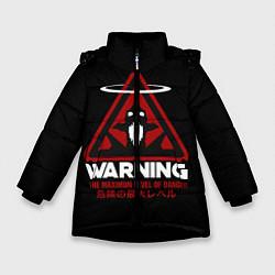 Куртка зимняя для девочки Евангелион цвета 3D-черный — фото 1