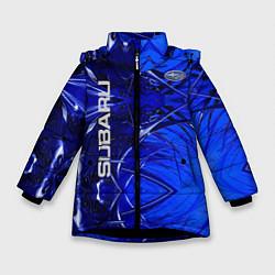 Куртка зимняя для девочки Subaru цвета 3D-черный — фото 1