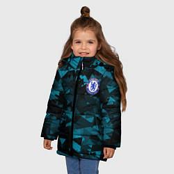 Куртка зимняя для девочки Chelsea Челси цвета 3D-черный — фото 2