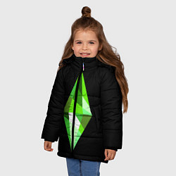 Куртка зимняя для девочки The Sims Plumbob цвета 3D-черный — фото 2
