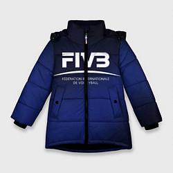 Куртка зимняя для девочки FIVB Volleyball цвета 3D-черный — фото 1