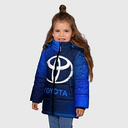Куртка зимняя для девочки TOYOTA ТОЙОТА цвета 3D-черный — фото 2