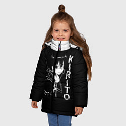 Куртка зимняя для девочки Kirito цвета 3D-черный — фото 2