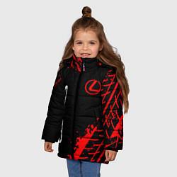 Куртка зимняя для девочки LEXUS ЛЕКСУС цвета 3D-черный — фото 2