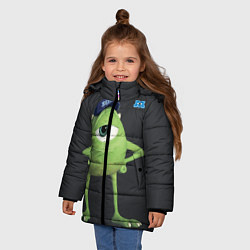 Куртка зимняя для девочки Майк Вазовски цвета 3D-черный — фото 2