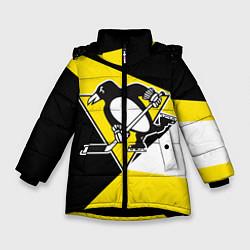 Куртка зимняя для девочки Pittsburgh Penguins Exclusive цвета 3D-черный — фото 1