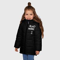 Куртка зимняя для девочки ЧЕРНОЕ ЗЕРКАЛО цвета 3D-черный — фото 2