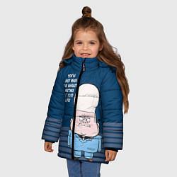 Куртка зимняя для девочки Гидеон Глифул цвета 3D-черный — фото 2