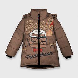 Куртка зимняя для девочки Carl Fredricksen цвета 3D-черный — фото 1