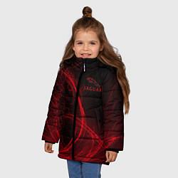 Куртка зимняя для девочки Ягуар Jaguar цвета 3D-черный — фото 2