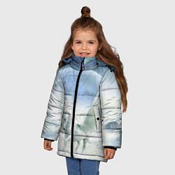Куртка зимняя для девочки Пегас цвета 3D-черный — фото 2