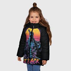 Куртка зимняя для девочки I WILL BE BACK TERMINATOR цвета 3D-черный — фото 2