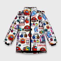 Зимняя куртка для девочки AMONG US