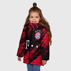 Куртка зимняя для девочки BAYERN MUNCHEN БАВАРИЯ цвета 3D-черный — фото 2