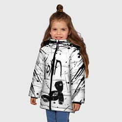 Куртка зимняя для девочки Korn цвета 3D-черный — фото 2