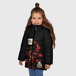 Детская зимняя куртка для девочки с принтом Deadpool, цвет: 3D-черный, артикул: 10275016506065 — фото 2
