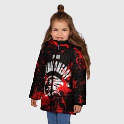 Куртка зимняя для девочки Khabib цвета 3D-черный — фото 2